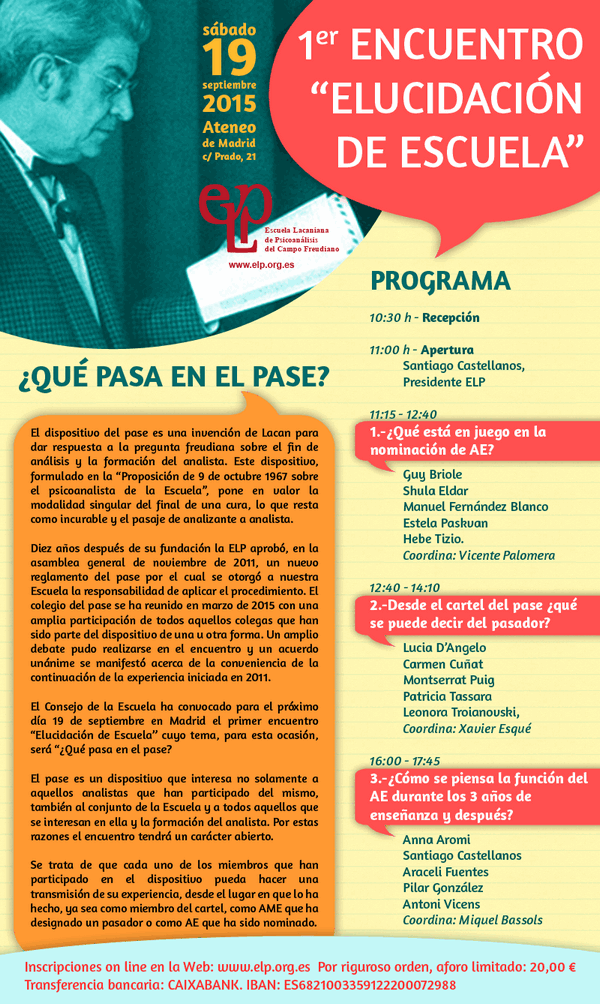 Elucidacion de Escuela 1 -2015