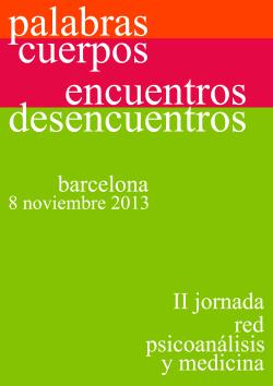 jornada red psiconalaisis medicina II - 2013