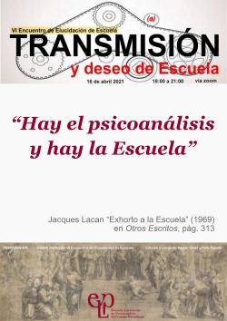Encuentro Elucidacion Escuela VI - 2021 -afiche x250
