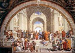 cuadro Escuela de Atenas